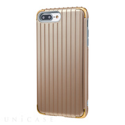 "【iPhone8 Plus/7 Plus ケース】""Rib 2"" Hybrid Case (Gold)"