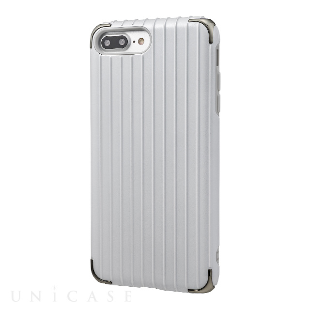 "【iPhone8 Plus/7 Plus ケース】""Rib 2"" Hybrid Case (White)"