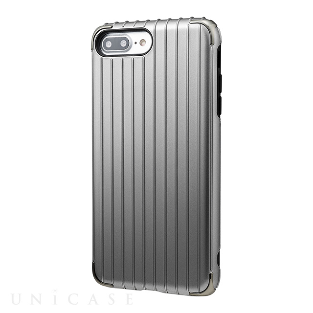 "【iPhone8 Plus/7 Plus ケース】""Rib 2"" Hybrid Case (Gray)"