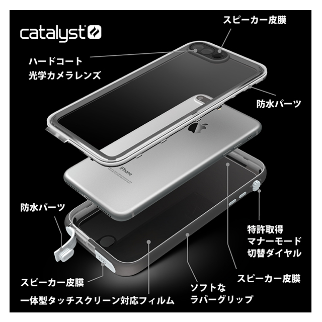 【iPhone7 ケース】Catalyst Case (ホワイト)
