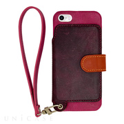 【iPhoneSE/5s/5 ケース】Real Leather Case (Raspberry)
