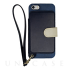 【iPhoneSE/5s/5 ケース】Real Leather Case (Indigo)【本革レザー】
