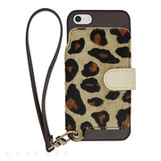 【iPhoneSE/5s/5 ケース】Real Leather Case (Leopard)