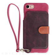 【iPhone8/7 ケース】Real Leather Case (Raspberry)