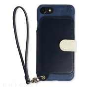 【iPhone8/7 ケース】Real Leather Case (Indigo)