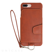 【iPhone8 Plus/7 Plus ケース】Real Leather Case (Caramel)