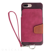 【iPhone8 Plus/7 Plus ケース】Real Leather Case (Raspberry)