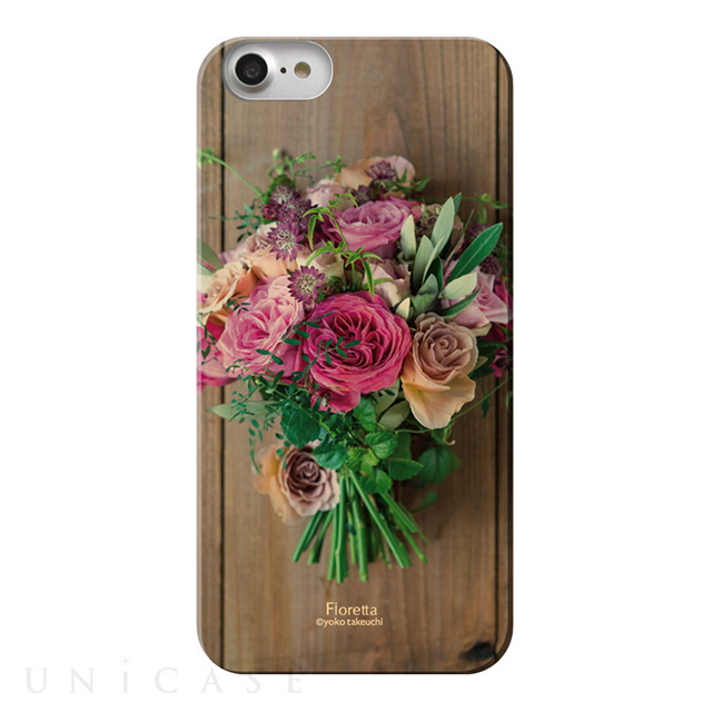 【iPhone8/7 ケース】Fioletta WOODY PHOTO CASE (Rose framboise)