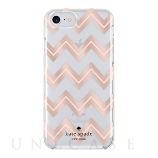 【iPhone8/7/6s/6 ケース】1PC Comold (Moroccan Chevron Clear/Blush/Rose Gold Foil)
