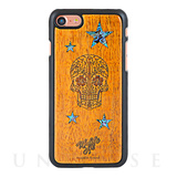 【iPhone8/7 ケース】Koa Wood COVER (Shell Inlay/Skull Star)