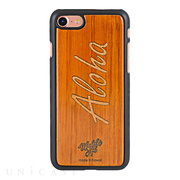 【iPhone8/7 ケース】Koa Wood COVER (Wood Inlay/Aloha)