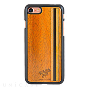 【iPhone8/7 ケース】Koa Wood COVER (Wood Inlay/Line)