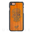 【iPhone7 ケース】Koa Wood COVER (Design/Skull)