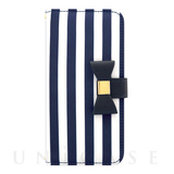 【iPhone8/7/6s/6 ケース】Ribbon Diary Stripe for iPhone7/6s/6 Navy