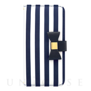 【iPhoneSE(第2世代)/8/7/6s/6 ケース】Ribbon Diary Stripe for iPhoneSE(第2世代)/8/7/6s/6 Navy