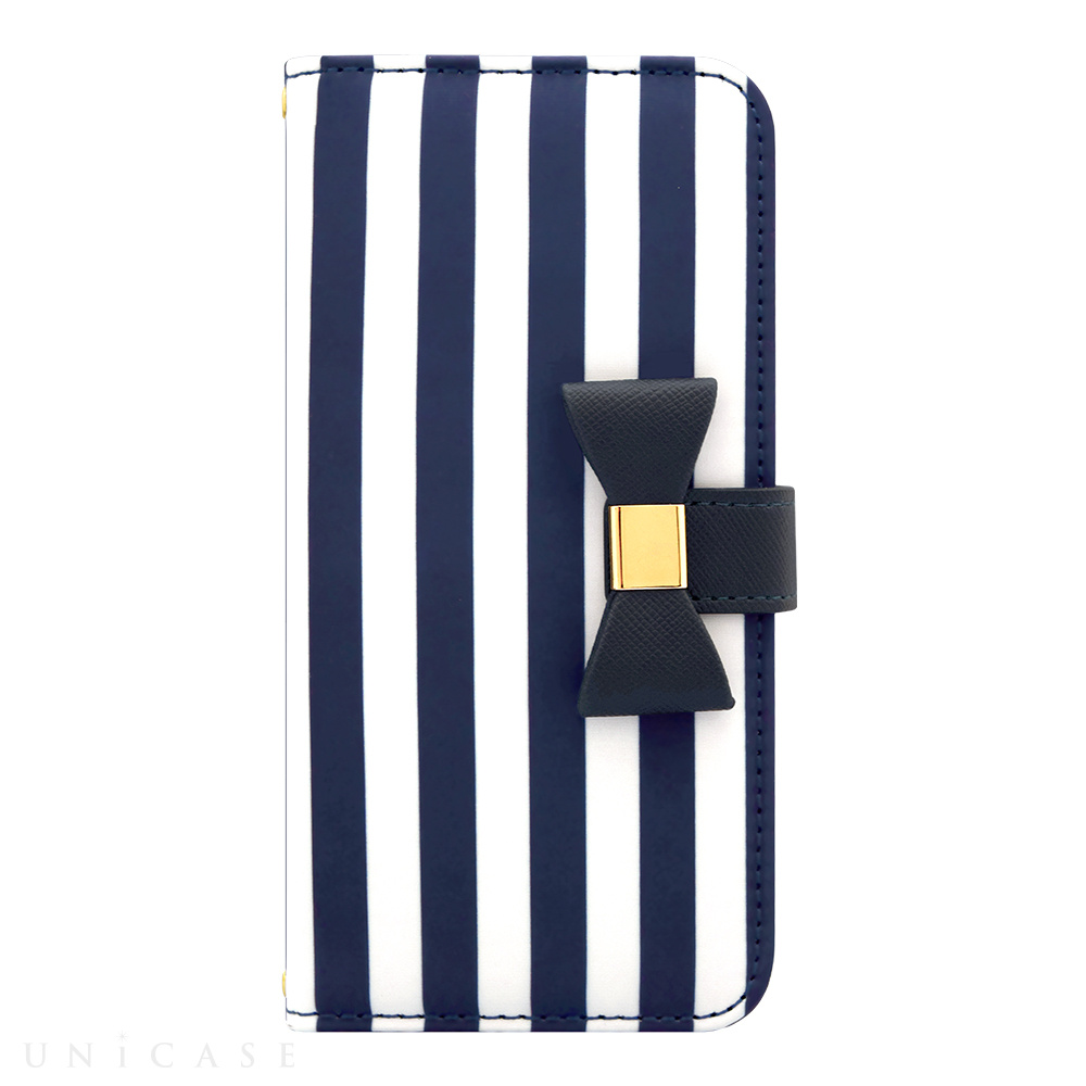 【iPhone8/7/6s/6 ケース】Ribbon Diary Stripe for iPhone8/7/6s/6 Navy