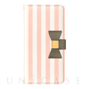 【iPhoneSE(第2世代)/8/7/6s/6 ケース】Ribbon Diary Stripe for iPhoneSE(第2世代)/8/7/6s/6 Pink