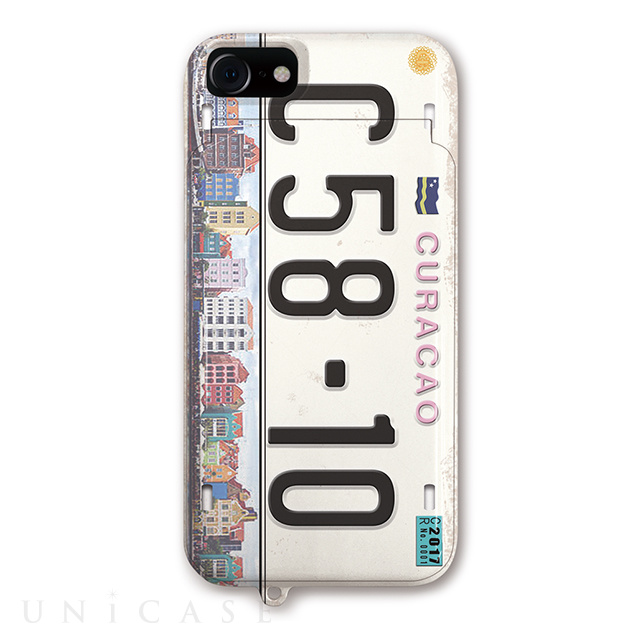 【iPhoneSE(第2世代)/8/7/6s/6 ケース】iCompact Collaborn オリジナル (Numberplate_CURACAO2)