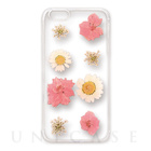 【iPhoneSE/5s/5 ケース】Fleurir (Pale flowers pink)
