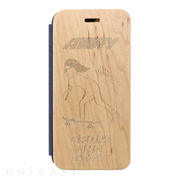 【iPhoneSE(第2世代)/8/7/6s/6 ケース】Maple Flip Case (Skateboard)