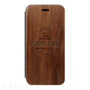 【iPhoneSE(第2世代)/8/7/6s/6 ケース】Walnut Flip Case (Explore)