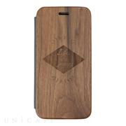 【iPhoneSE(第2世代)/8/7/6s/6 ケース】Walnut Flip Case (Rhomb)