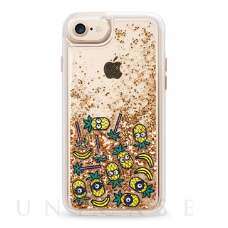 【iPhone7/6s/6 ケース】Minion Glitter Floaty (Gold)