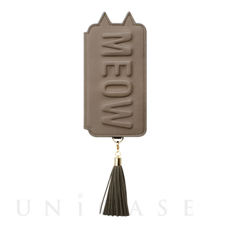 【iPhone7/6s/6 ケース】Tassel Tail Cat for iPhone7/6s/6(GRAY)