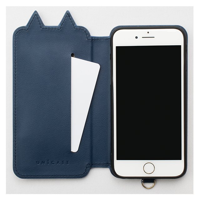 【iPhone8/7/6s/6 ケース】Tassel Tail Cat for iPhone8/7/6s/6(NAVY)