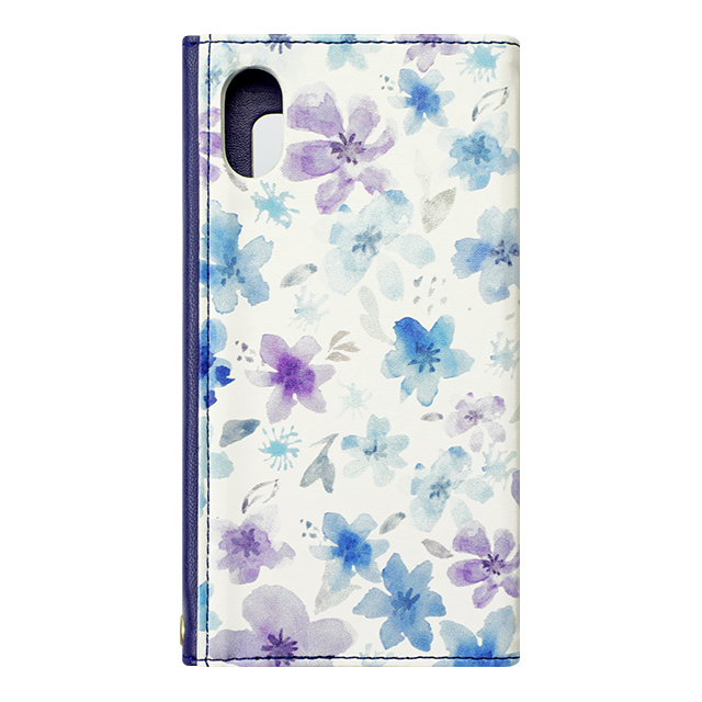 【iPhoneX ケース】Flower Series mirror case for iPhoneX(Watery Blue)サブ画像