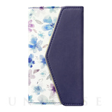 【iPhoneX ケース】Flower Series mirror case for iPhoneX(Watery Blue)