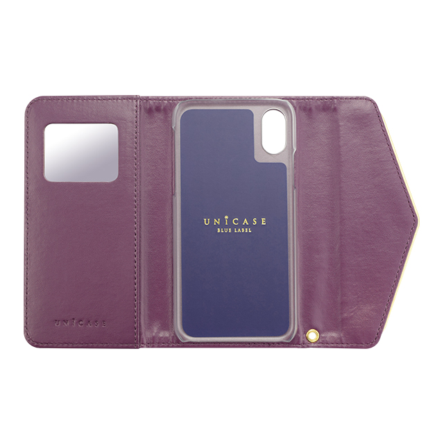 【iPhoneXS/X ケース】Flower Series mirror case for iPhoneXS/X(Purple Anemone)