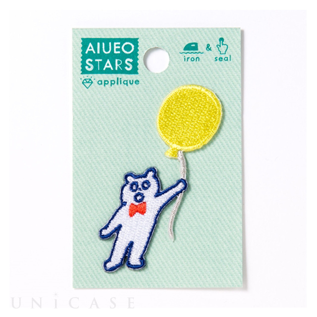 APPLIQUE AIUEO STARS (KUMA balloon)