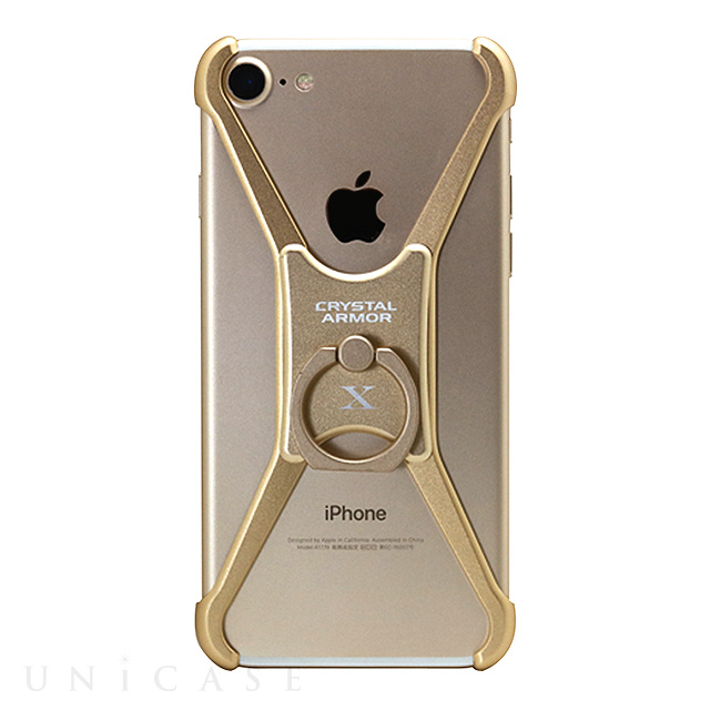 【iPhoneSE(第2世代)/8/7/6s/6 ケース】X Ring (CHAMPAGNE GOLD)