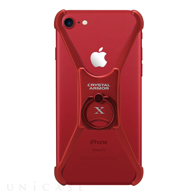【iPhone8/7/6s/6 ケース】X Ring (ALL RED)