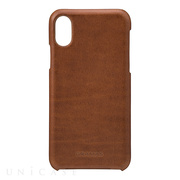 "【iPhoneX ケース】""TOIANO"" Shell Leather Case (Dark Brown)"