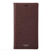 "【iPhoneX ケース】""EURO Passione"" Book PU Leather Case (Wine)"