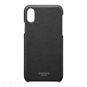 "【iPhoneXS/X ケース】""EURO Passione"" Shell PU Leather Case (Black)"