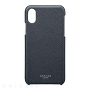 "【iPhoneXS/X ケース】""EURO Passione"" Shell PU Leather Case (Navy)"
