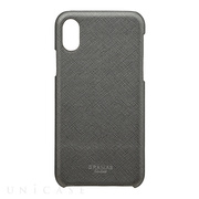 "【iPhoneX ケース】""EURO Passione"" Shell PU Leather Case (Gunmetal Gray)"