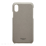 "【iPhoneX ケース】""EURO Passione"" Shell PU Leather Case (Silver)"