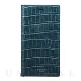 "【iPhoneX ケース】""EURO Passione Croco"" Book PU Leather Case (Navy)"