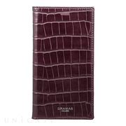 "【iPhoneX ケース】""EURO Passione Croco"" Book PU Leather Case (Wine)"