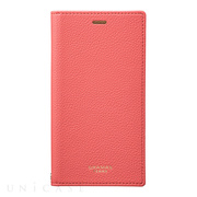 "【iPhoneXS/X ケース】""Colo"" Book PU Leather Case (Coral Pink)"