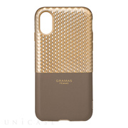 "【iPhoneXS/X ケース】""Hex"" Hybrid Case (Champagne)"