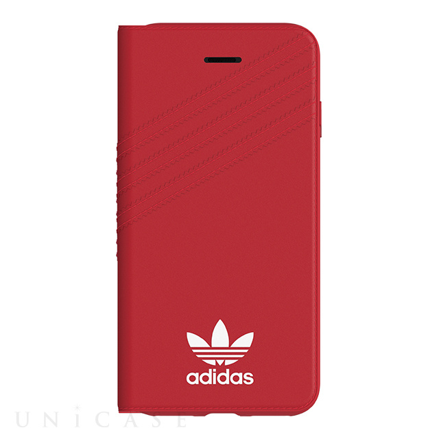 【iPhoneSE(第2世代)/8/7/6s/6 ケース】Booklet case (Royal Red/White)
