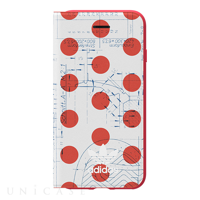 【iPhone8/7/6s/6 ケース】70'S Booklet case (Red/White)