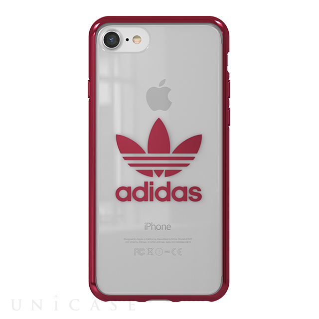 iphone8 7 ケース clear case burgundy logo adidas originals