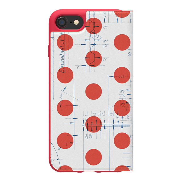 【iPhone8/7/6s/6 ケース】70'S Booklet case (Red/White)サブ画像