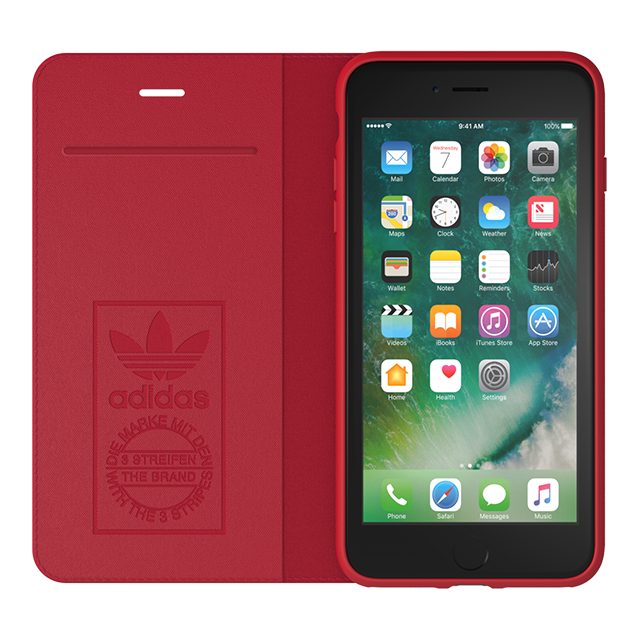 【iPhone8 Plus ケース】Booklet case (Royal Red/White)サブ画像